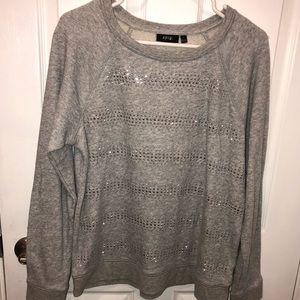 Light weight gray sweatshirt